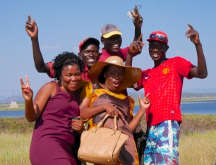 With the local fishermen, at Lake Kariba