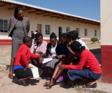 A working session at a district meeting in t Darwin of the CAMA (Camfed alumni) network