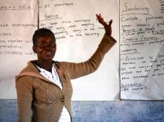 Camfed / Kiva borrowers planning their business strategies