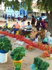 Local village market area