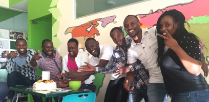 Some of the Kiva team from the Nairobi office