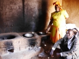 Dorocas runs a thriving business building these innovative stoves. They cater for three separate cooking areas, are much more efficient in terms of fuel use, and have reduced toxic fumes. She has given employment to 25 others and builds 350 of these a month!