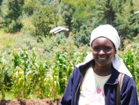 Lucy, a farmer in the Wega Group in Nakuru.