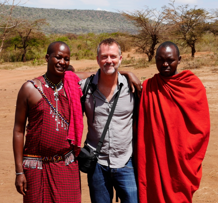 I'm getting the privilege to meet people from very different cultures. (These guys are from the Masai tribe: I got the chance to meet them on a recent trip to the Mara.)