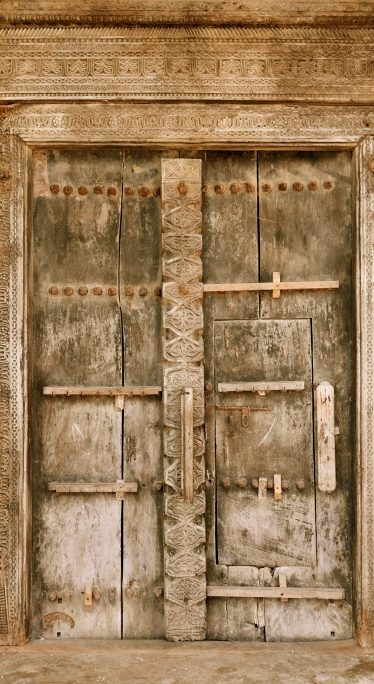 Traditional Lamu doorway