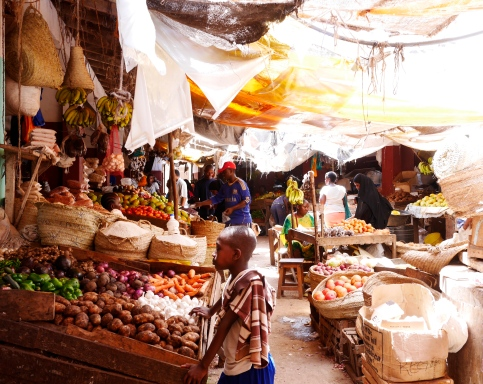 The main market in Lamu