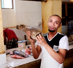 As you'd expect, there's a great fish market in Lamu town (though many restaurants will just buy directly off the boats)